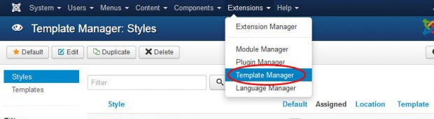 activate joomla template after installation