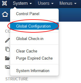 joomla 3 global configuration