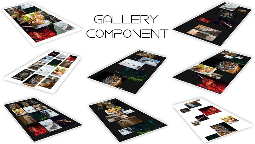 Gallery Component with Ajax page transactions
