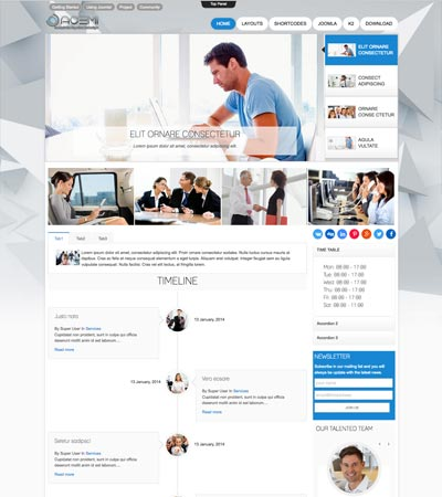 Business Finance Joomla Template