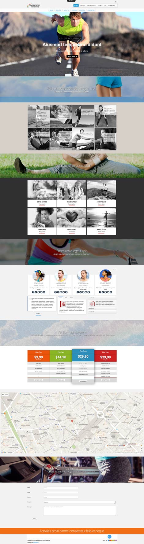 Ol Ageeo - Sports Joomla Template