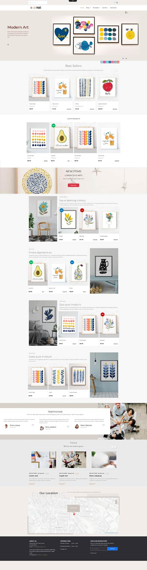 Ol Artprint - Virtuemart eCommerce joomla template