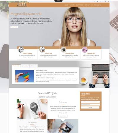 Aver - Creative Agencies template