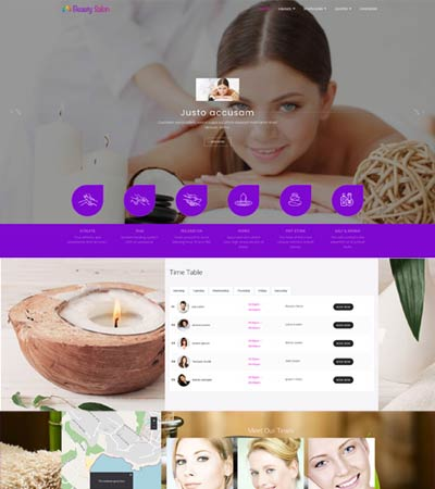 Spa salon Joomla Template