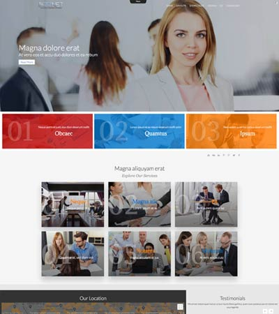 Bizznet - Business template template