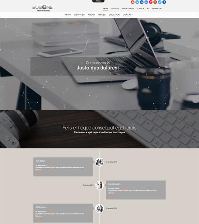 Busone - Business theme template