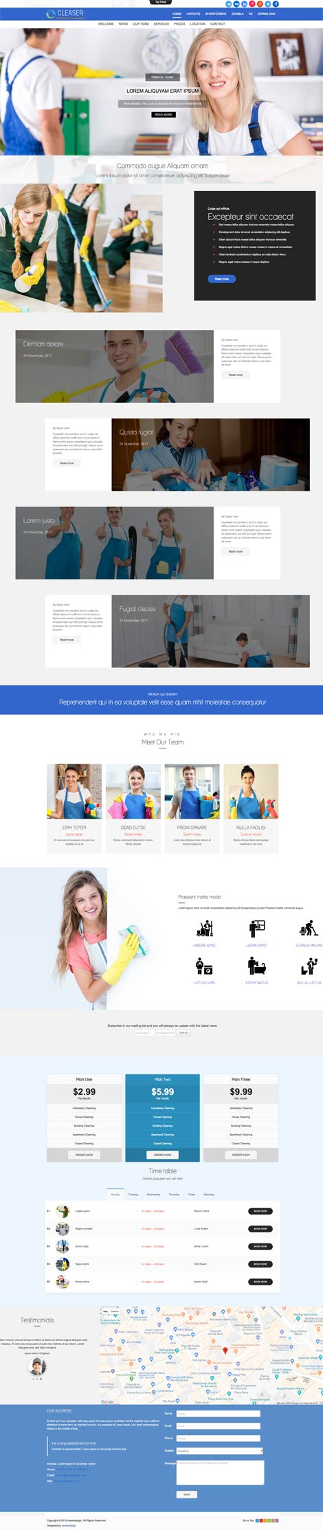 Ol Cleaser - Cleaning Services Joomla Template