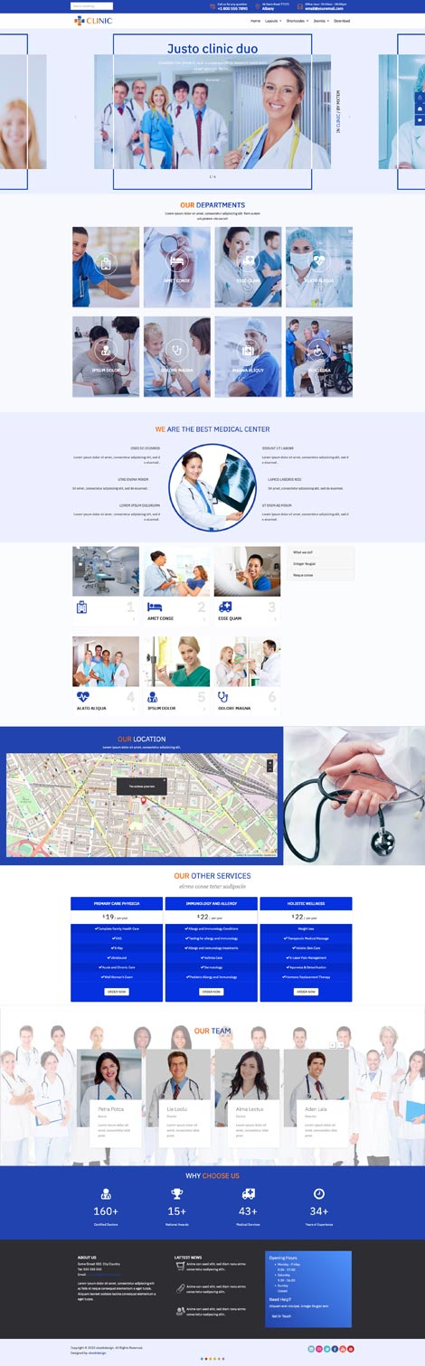 Ol Clinic - Joomla template for Medical wesites