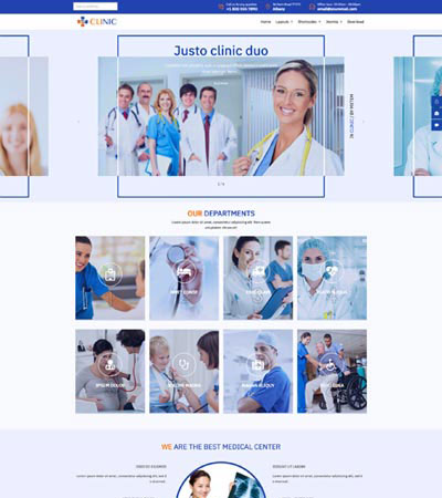 Healthcare Clinic Joomla Template