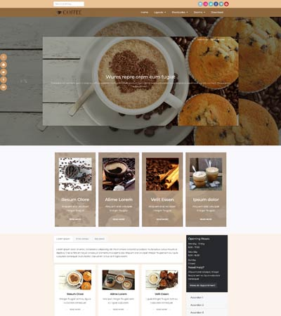 Coffee Joomla Template template