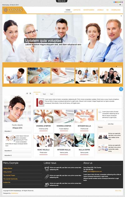 Ol Consen - Corporate Business Joomla Template