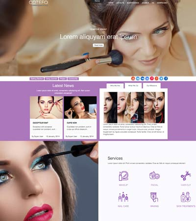 Beauty Salon Joomla Template