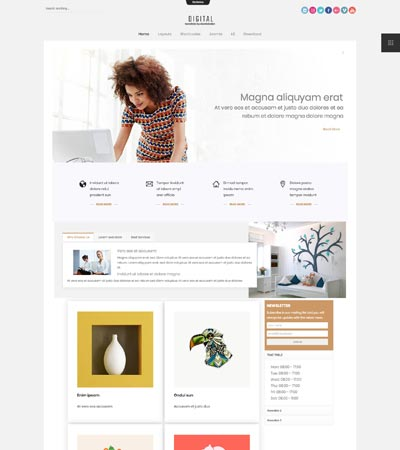 Digital Joomla Template