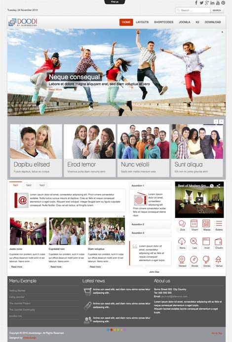 Ol Doodi - Events Joomla Template