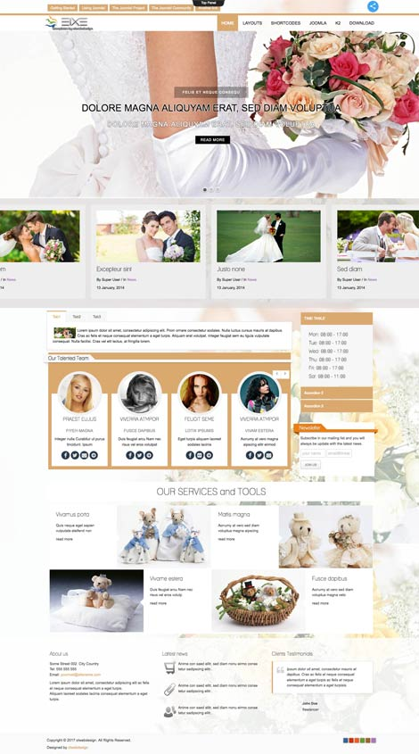 Ol Eixe - Wedding Joomla Template
