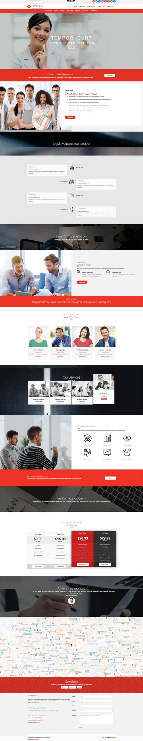 Ol Escapos - Corporate Joomla Template