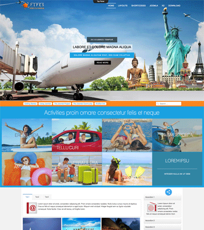 Tourism Joomla Template