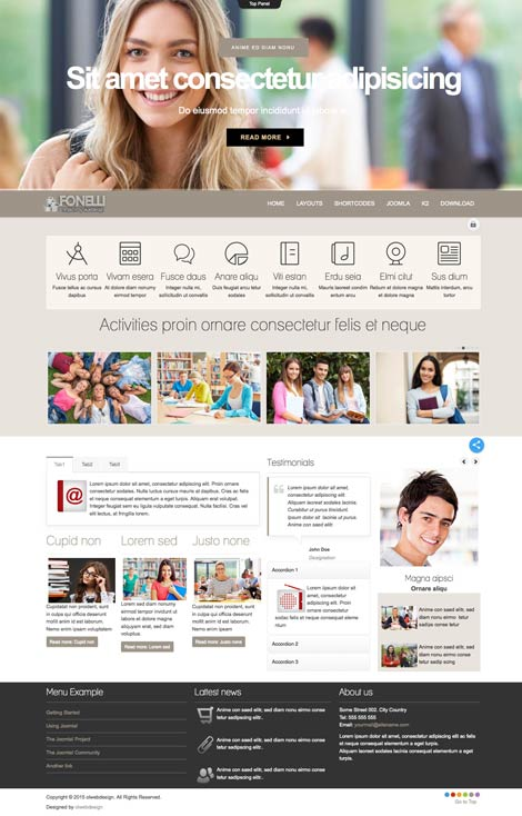 Ol Fonelli - University Joomla Template