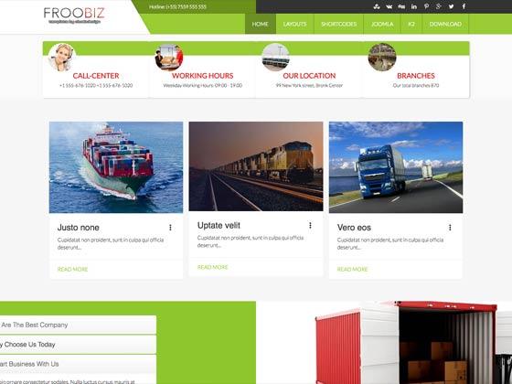 Ol Froobiz - Shipping Logistic Joomla Template