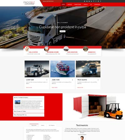 Froobiz - Logistics theme template