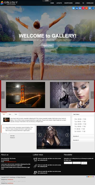 Ol Gallery - Photography Joomla Template