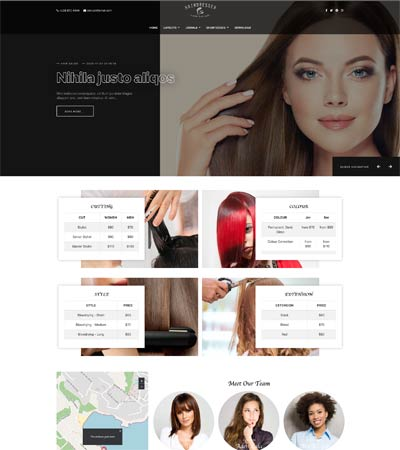 Hairdresser Joomla Template