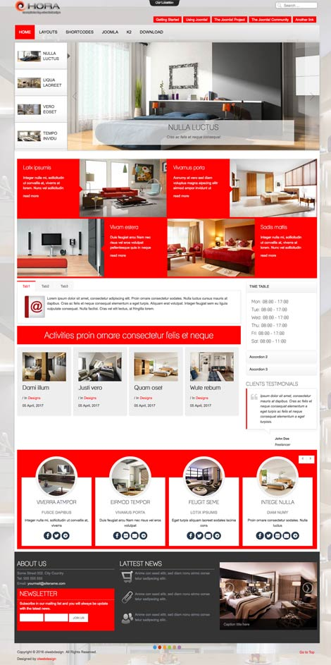 Ol Hora - Joomla Interior Design template