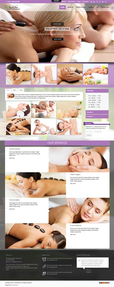 Ol Ilos - Spa & Massage Salon Joomla Template
