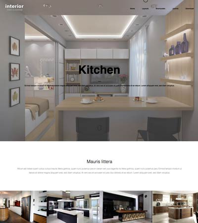 Interior Design Theme template