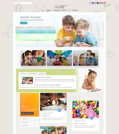 Kidcare - Kindergarten theme template
