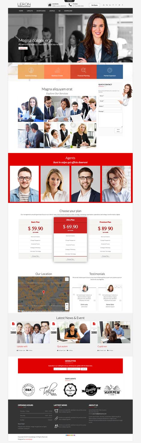 Ol Leron Joomla Finance Business Template