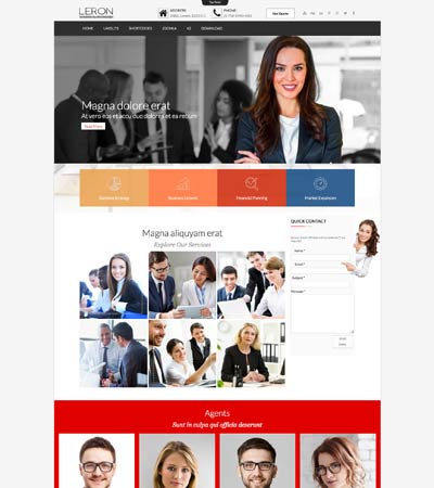 Leron - Finance Business template