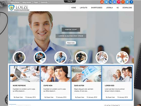 Ol loeze business joomla template click to enlarge image loeze1g cheaphphosting Images