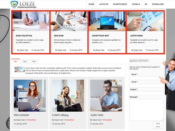 Ol loeze business joomla template pre made template styles wajeb Image collections