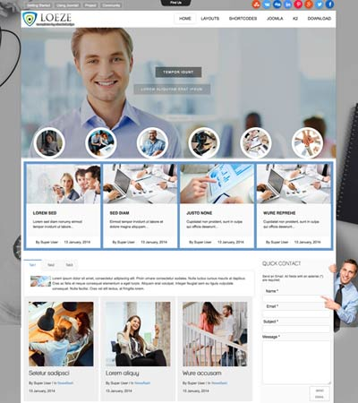 Loeze - Business template template