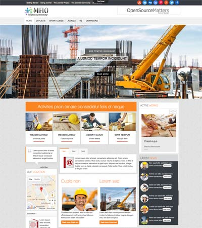 Construction Joomla