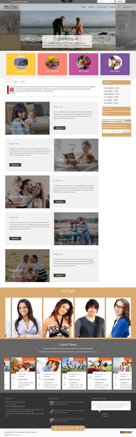 Ol Moted - Family Center Joomla Template