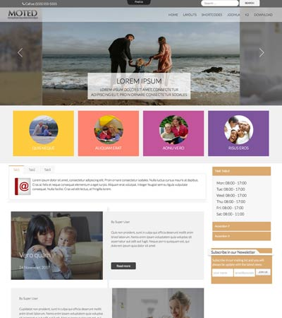 Moted - Family Center template