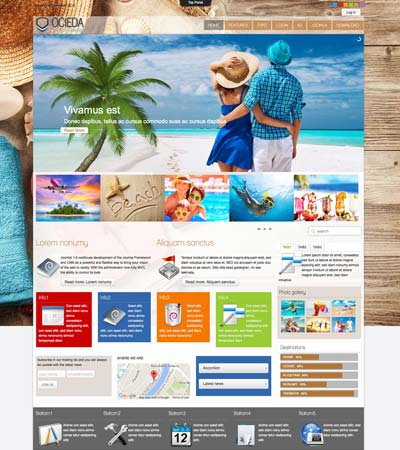 Travel Agency Joomla Template
