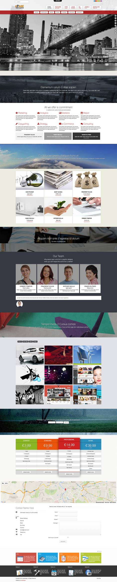 Ol Opage - One Page Joomla Template