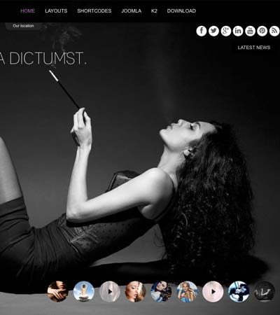 Photography Gallery Joomla Template