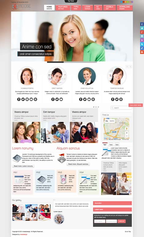 Ol Picose - Education School Joomla Template