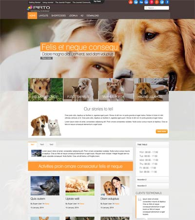 Pet Care Joomla Template