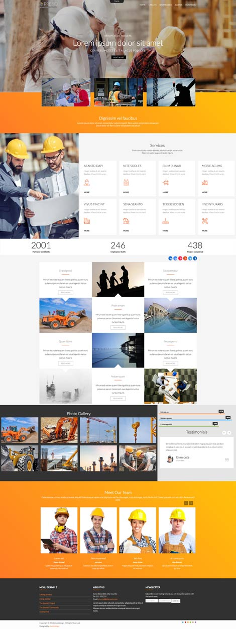 Ol Preso Construction Joomla Template