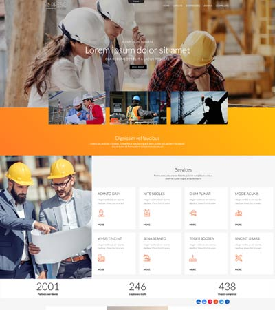 Preso - Construction Theme template