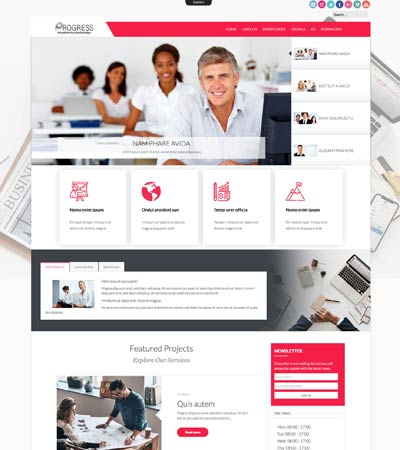 Progress Joomla Template