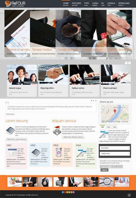 Ol Refour - Finance and Consulting Business Joomla Template