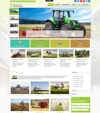 Savo - Agriculture theme template