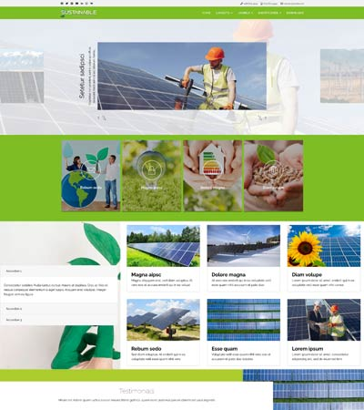 Sustainable joomla theme template