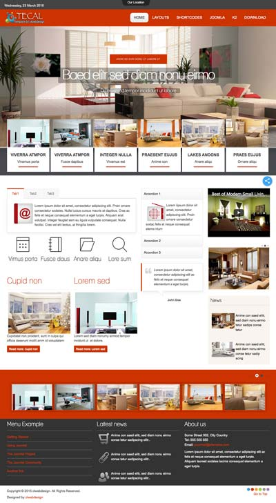 Ol Tecal - Joomla Interior Design Template